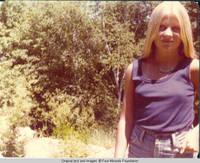 Liz standing near Rock garden