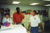 2000  Vicki Stoller, J.B. Martin and Ron Anderson at JB's going away party in May 2000