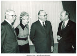Mary Louise Smith with Charles Wittenmeyer, Secretary of Agriculture Earl Butz, and John McDonald, 1970s