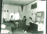 Student room in Currier Hall, The University of Iowa, 1916