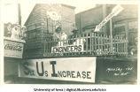 Mecca Day parade float, The University of Iowa, 1915