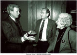 Mary Louise Smith, Tom Brokaw, and Iowa Governor Robert Ray, University of Iowa Foundation Meeting, October 1991