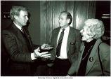 Mary Louise Smith, Tom Brokaw, and Iowa Governor Robert Ray, University of Iowa Foundation Meeting, October 1991