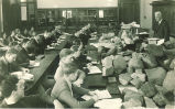 Dean George F. Kay teaching geology class, The University of Iowa, 1920s