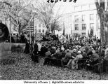 Speech delivered to audience on the Pentacrest, The University of Iowa, 1914