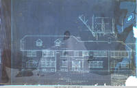 Grey house south elevation blueprint