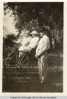 George and Viola in buggy