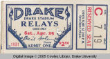 Drake Relays, 1931, Admission Ticket