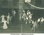 Dancers in Halsey Hall, The University of Iowa, 1940s