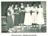 Singing at the Majors Banquet, The University of Iowa, May 1953