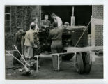Tractor mounted pest and weed sprayer lecture, 1949