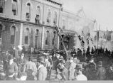 Fire in downtown Oskaloosa, 1900; Mahaska County, Iowa