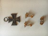 Dr. Bowie's actual corp insignies and German medal from World War I