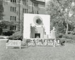 Spinney House Homecoming lawn display, ISC tells sad tail of Buffs, 1954