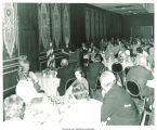Mary Louise Smith speaking in banquet room at Marriott Twin Bridges Motor Hotel, Arlington, Va., 1974
