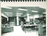 Work area in Main Library, the University of Iowa, 1972