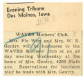 WAVES mother's club