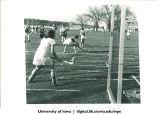 Field hockey game, The University of Iowa, 1940s