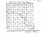 Iowa land survey map of t097n, r004w