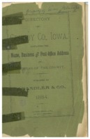 Clay Township listings from Grundy County Directory, 1884