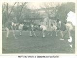 Field hockey club playing, The University of Iowa, 1930s
