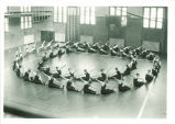 Women's gym class in Halsey Hall, The University of Iowa, April 1926