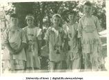 Children dressed in Native American costumes, The University of Iowa, 1935
