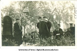 Man receiving honorary degree at commencement, The University of Iowa, June 12, 1918