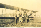 Men standing beside plane, Holy City, Bettendorf, Iowa, 1920s