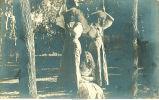 Women on swing, Clear Lake, Iowa, August 9, 1909
