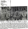 """""""Dumbo,"""" a puppy, is mascot on bomber in Africa"""