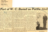 Part of W.C. buried on Pacific atoll