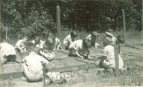 Students gardening, The University of Iowa, May 19, 1932