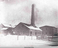 Winter scene of Calico Print Works, Amana, Iowa, 1900s