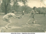 Softball game, The University of Iowa, 1930s
