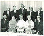 Mary Louise Smith with Iowa Republican activists and politicians, Oskaloosa, Iowa, 1970s?