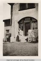 Arlene at Grey house entrance
