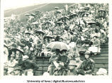 Spectators at Iowa football game, The University of Iowa, 1940s-1950s?