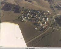 Aerial view East Amana, Iowa, 197-