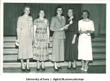 Students at the Majors Banquet, The University of Iowa, May 1953