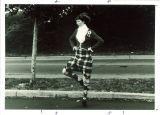 University of Iowa Scottish Highlanders member dancing, 1970s?