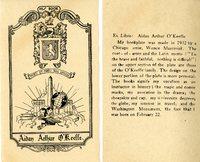Aidan Arthur O'Keefe Bookplate