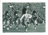 Scottish Highlanders marching on Iowa Field, The University of Iowa, November 11, 1939