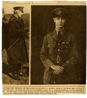 Prince of Wales during World War I<br />