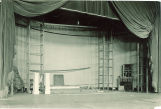 Theater stage and props, The University of Iowa, 1920s