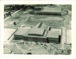 Aerial view of the Field House, the University of Iowa, 1933