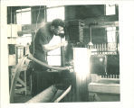 Camera work in Hydraulics laboratory, The University of Iowa, 1930s