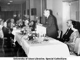 Speaker at Golden Jubilee banquet, The University of Iowa, 1962
