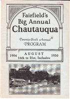 1930 Fairfield Chautauqua program
