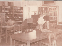015. Reading Room in the Fairfield Public Library in 1985